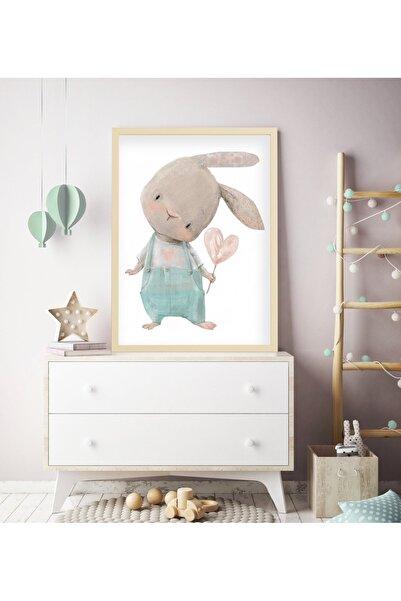 tablosetleri Büyük Boy Çerçeveli Bebek, Çocuk Odası Tablo 33 X 45 cm