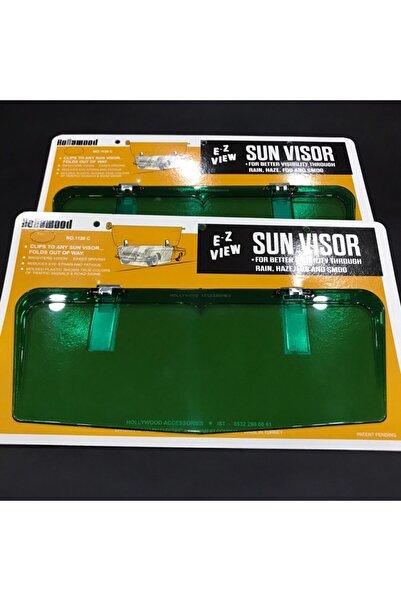 Paşam Oto Aksesuar Etiketçilere Yeşil Holywood Sun Vısor Güneşlik 1 .kalite
