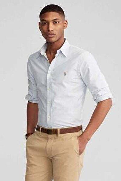 Erkek Gri Slim Fit Oxford Gömlek