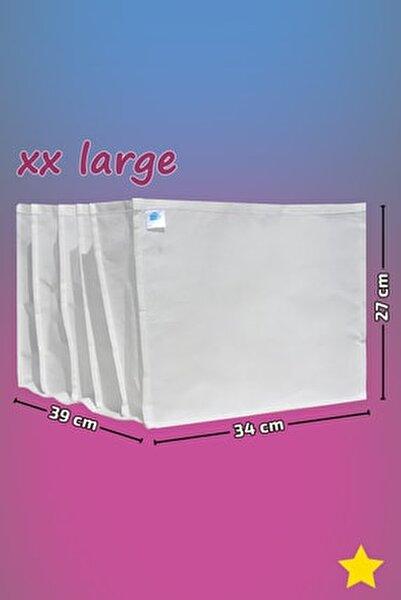 Beyaz - Xx Large Boy / 5 Gözlü Çekmece Dolap Içi Düzenleyici - Organizer