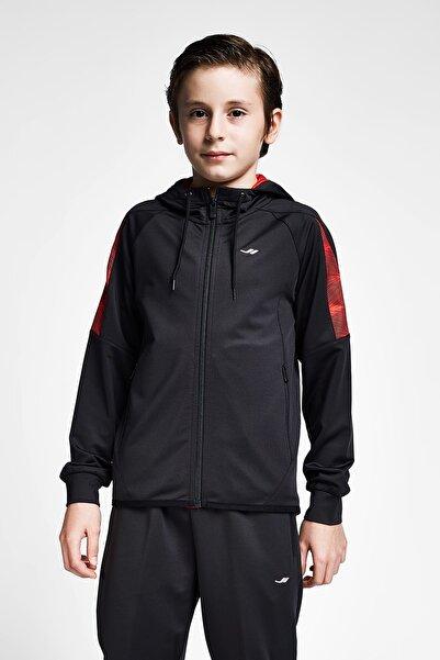 Lescon Erkek Çocuk Siyah Kırmızı Kapüşonlu Üst 20b-3015