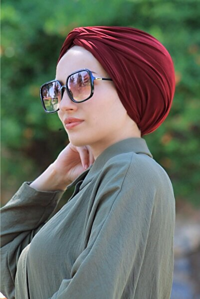 Sahra Şal Dünyası Dolama Bone Hazır Model