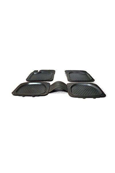 3D Siyah 5 Parça Üniversal Tüm Araçlar Için Uyumlu Havuzlu Paspas