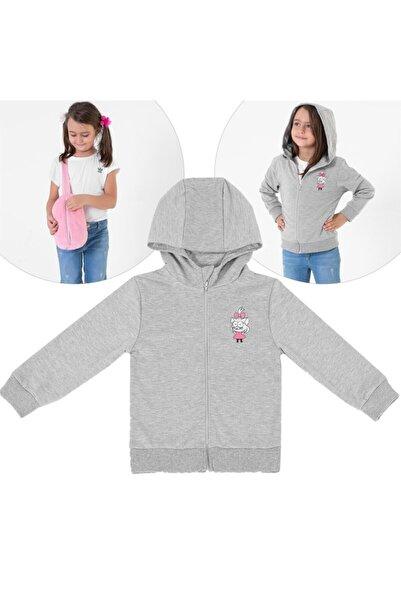 Miespiga Unisex Çocuk Gri Kral Şakir Canan  Lisanslı Sweatshirt