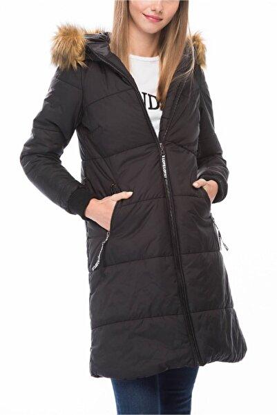 Dewberry Kadın Siyah Palto - 1160001Z6561..