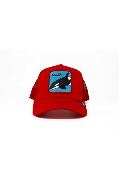 Goorin Bros Unisex Kırmızı Killer Whale Standart Şapka 101-0626