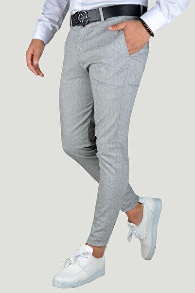 Terapi Men Erkek Gri Keten Pantolon