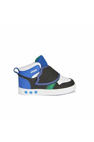 Vicco Erkek Çocuk Siyah Ayakkabı Rahat Işıklı Spor Bot
