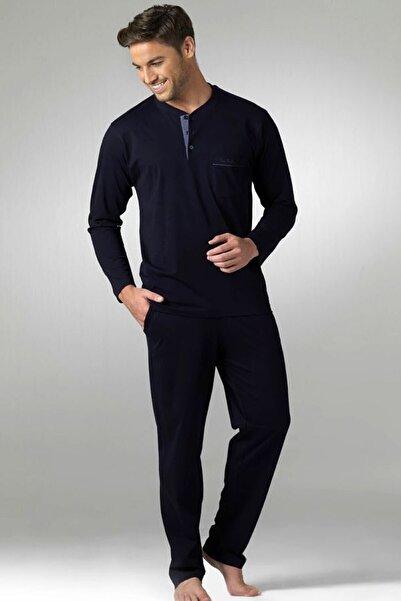 Pierre Cardin Erkek Lacivert Penye 2'li Pijama Takımı