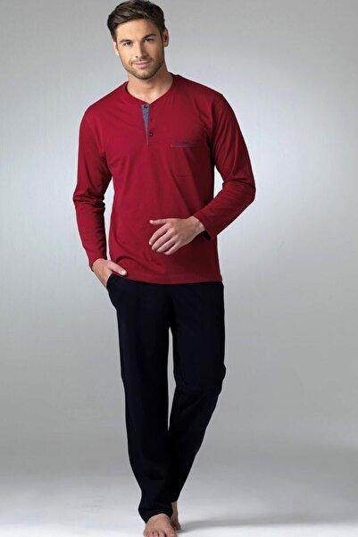 Pierre Cardin Erkek Bordo Penye Pijama Takımı 2'li