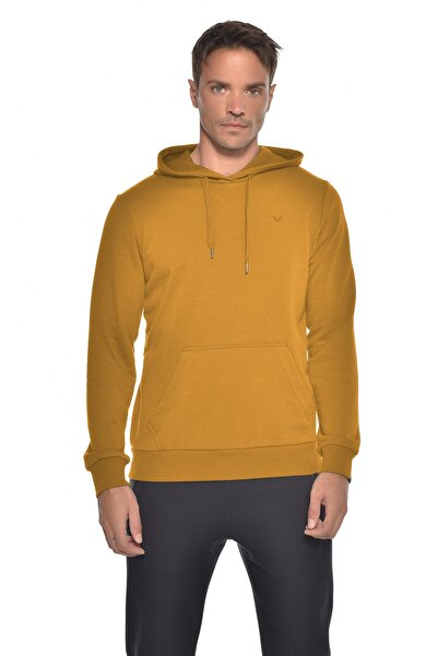 bilcee Erkek Sarı Kapüşonlu Sweatshirt Gw-8755