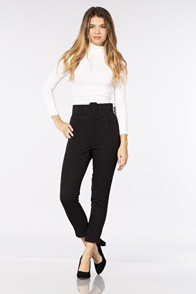 BARRELS AND OIL Kadın Siyah Kemerli Pantolon