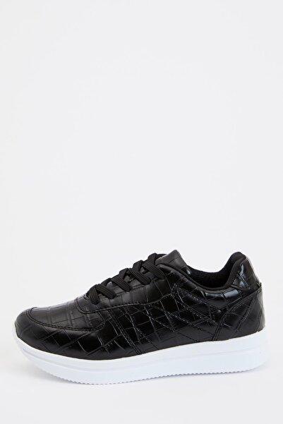 DeFacto Kadın Siyah Bağcıklı Sneaker Ayakkabı S0813AZ20AU