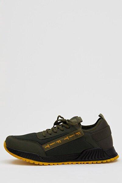 DeFacto Erkek Haki Bağcıklı Spor Ayakkabı