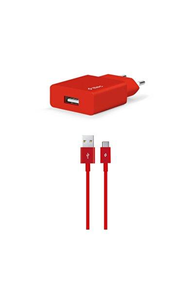 Ttec Kırmızı Smartcharger Seyahat Şarj Aleti 2.1a  Type-c Kablo