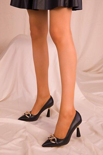 SOHO Siyah Kadın Klasik Topuklu Ayakkabı 15710