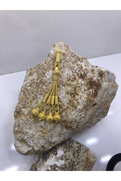KAZZAZE Klasik Kazaziye Dörtlü Tesbih Püskülü Gold