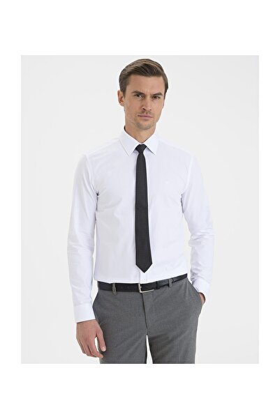 Pierre Cardin Erkek Beyaz Slim Fit Basic Gömlek G021GL004.000.1214558