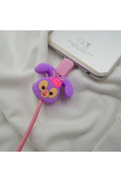 Telehome Kablo Koruyucu Sevimli Tavşan Violet Rabbit