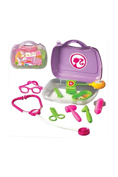 DEDE Barbie Doktor Set Kız Çocuk Oyuncak Pembe /