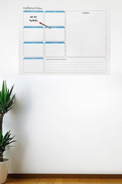 Buffer Haftalık Planlayıcı Manyetik Duvar Stickerı Takvim 100 Cm X 60 Cm