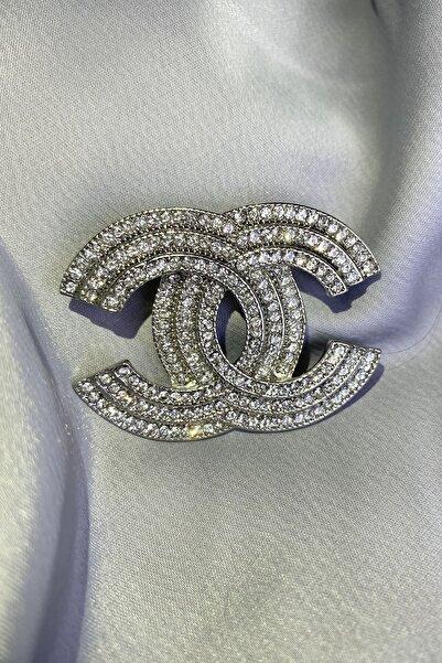 Nillaİstanbul Chanel Model Taşlı Broş