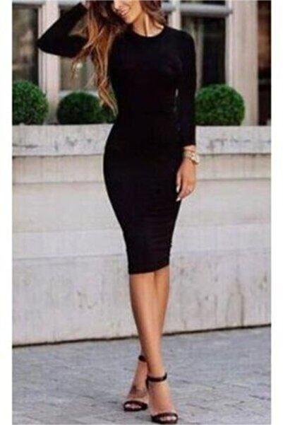 Modatekcan Kalem Elbise Likralı Çelik Yüzdeyüz Pamuk