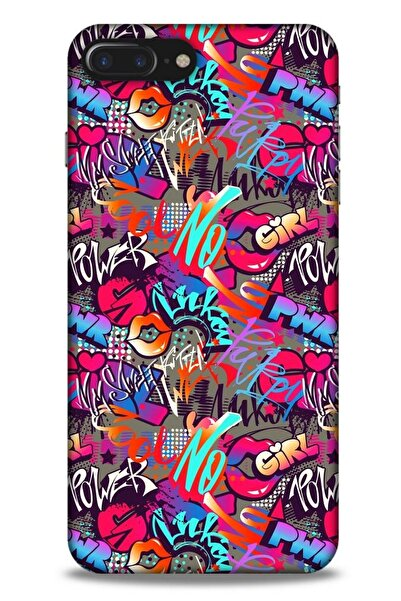 Lopard Graffitix (8) Desenli Silikon Kapak Apple Iphone 8 Plus Kılıf