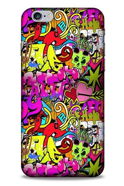 Lopard Graffitix (6) Desenli Silikon Kapak Apple Iphone 6s Plus Kılıf