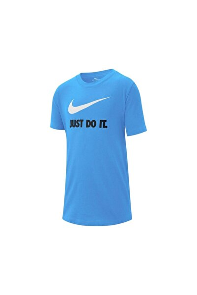 Nike Kadın Mavi B Nsw Tee Jdı Swoosh Spor T-Shirt
