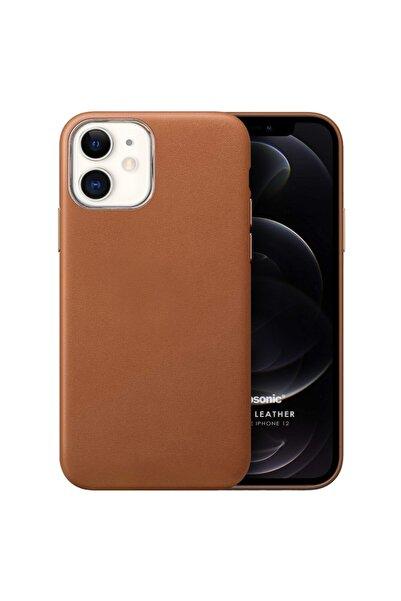 Microsonic Microsonic Iphone 12 Kılıf Luxury Leather Kahverengi