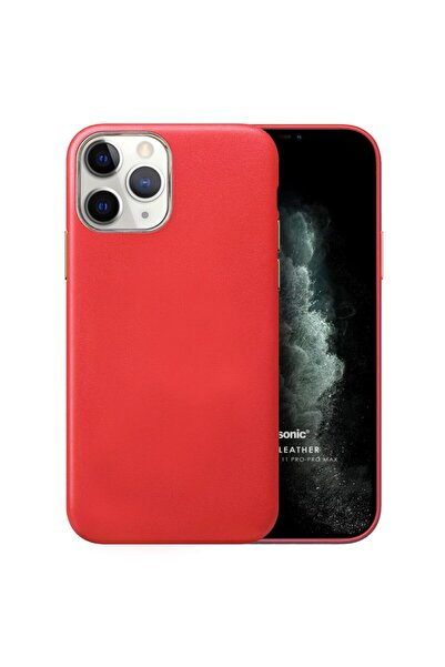 Microsonic Microsonic Iphone 11 Pro Kılıf Luxury Leather Kırmızı