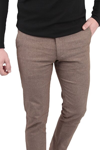 Canelia Erkek Açık Kahverengi Pantolon
