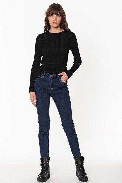 Loft Kadın Koyu Lacivert Jean Skinny Fit Pantolon