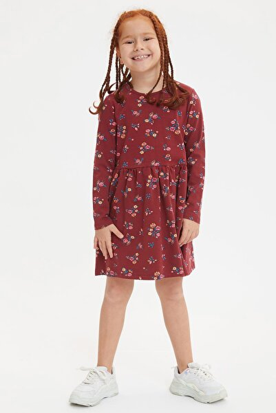 DeFacto Kız Çocuk Çiçek Desenli Elbise