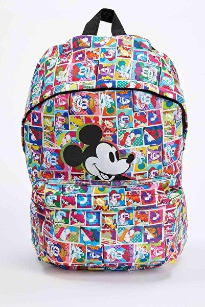 DeFacto Kız Çocuk Mickey Mouse Lisanslı Sırt Çantası
