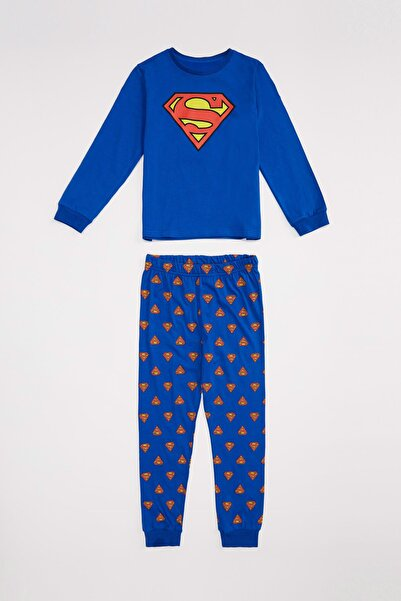 DeFacto Superman Lisanslı Pamuklu Pijama Takım