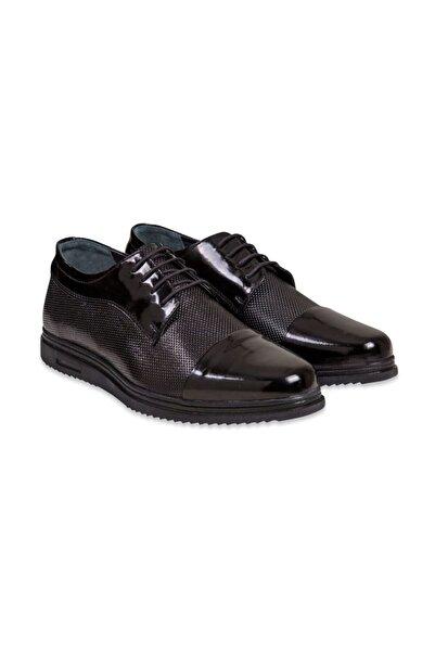 SÜVARİ Siyah Deri Casual Rugan Ayakkabı