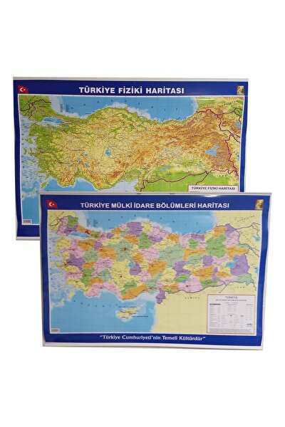 Artı Türkiye Siyasi-fiziki Haritası Çift Taraflı 70x100