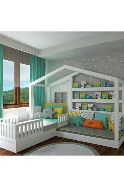 Deniz mobilya Yatak Yeri 90x190dır Koltuk Yeri 60x120 Kople Mdf Montessorı Yatak Genç Odası