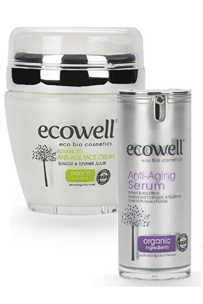 Ecowell Organik Yaşlanma Karşıtı Seti (yüz Kremi + Serum)