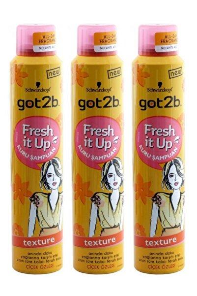 Got2B Fresh İt Up Texture Kuru Şampuan 200 ml x 3 Adet