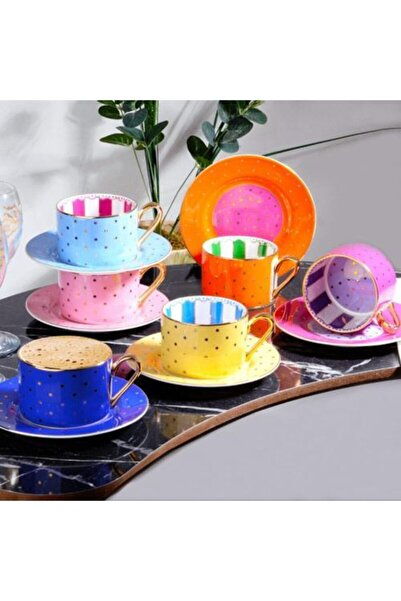 Kosova Bone China Lüx Porselen Çay & Nescafe Fincan Takımı