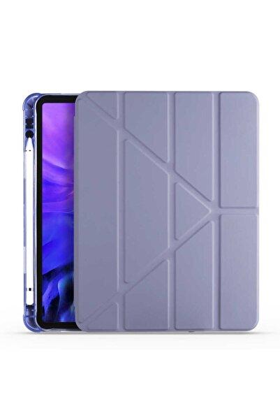 zore Apple Ipad 10.2 (8. Nesil) Tablet Kılıfı Standlı Kalem Bölmeli Lüx Slim Desenli Tpu Silikon Kapak