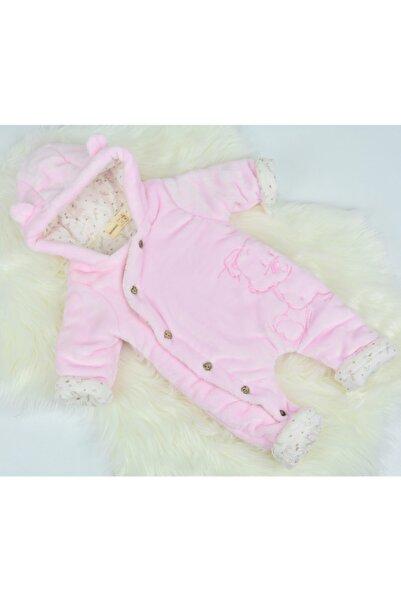 Bebessi Kız Bebek Pembe Solf Elyaf Kışlık Uyku Tulumu