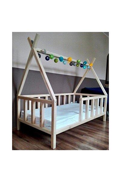 Binoxy 80x190 Kızılderili Montessori Yatak Montessori Beşik Montessori Karyola