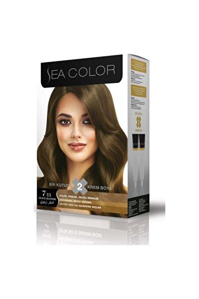Sea Color Krem Tüp Saç Boyası 2'li 7,11