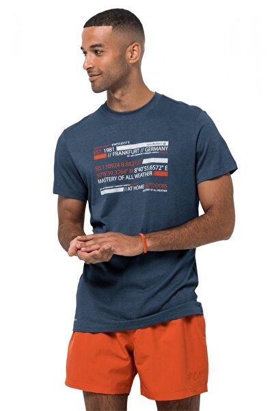 Jack Wolfskin Erkek Mavi Established In T M T-shirt 1807751
