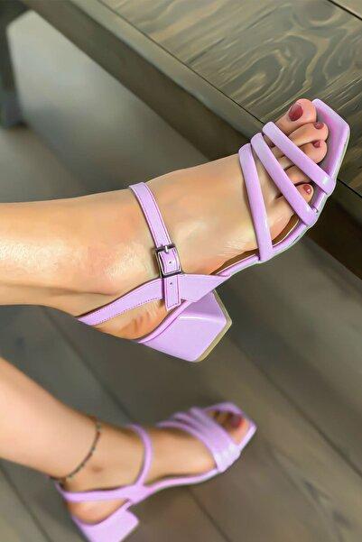 Lal Shoes & Bags Kadın Biyeli Klasik Topuklu Ayakkabı-lila