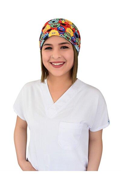 Nur Ortopedi Forma Susam Sokağı Desenli Likralı Doktor Hemşire Hastane Aşçı Medikal Cerrahi Bone